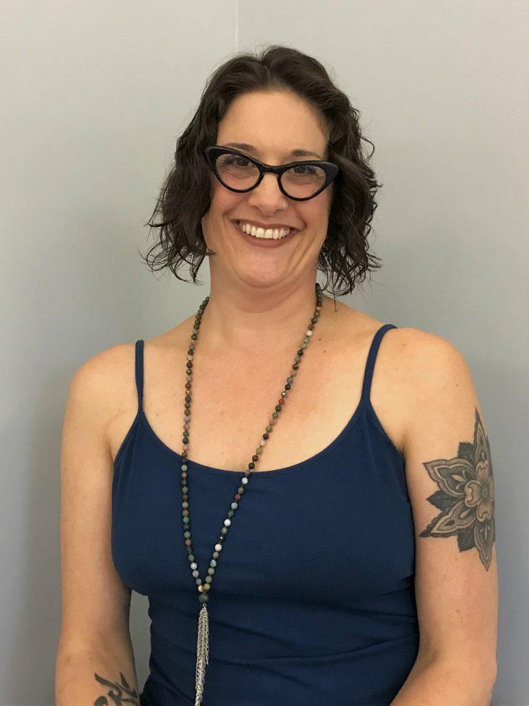 Yoga instructor Cheryl Fenner Brown smiles