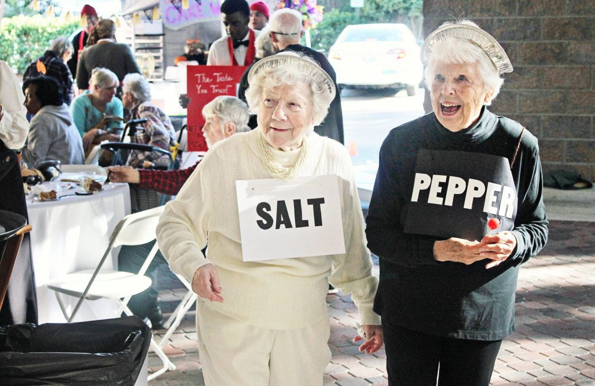 Forest residents Molly and Evebell don Salt and Pepper costumes.
