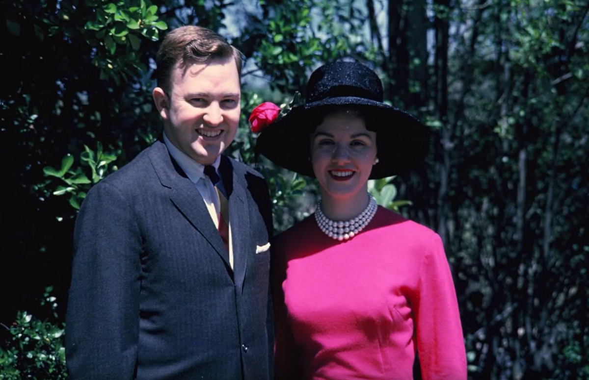 The Parrents dressed for church in 1965